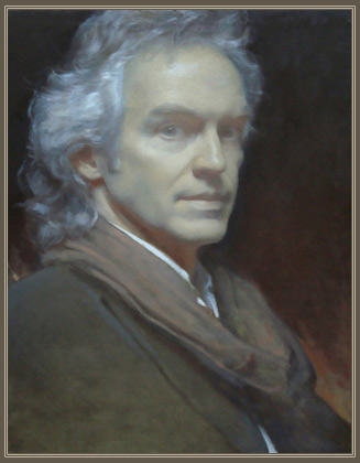 Jeffrey Mims, Oil on Canvas, Underpainting for Self Portrait